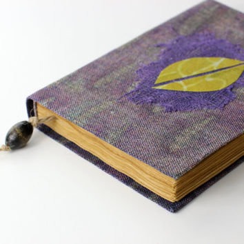 Journal, diary, notebook, old paper, batik fabric, blank book, travel journal