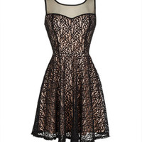 Delia's Black Lace Mesh Dress