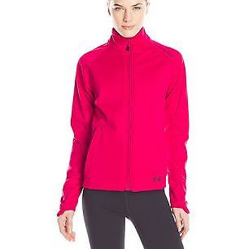 Under Armour Women's ColdGear Infrared Softershell Jacket, Fury/Black, Medium