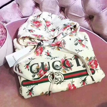 ''Gucci'' Women Pattern Print Floral Hot Hoodie Cute Sweater