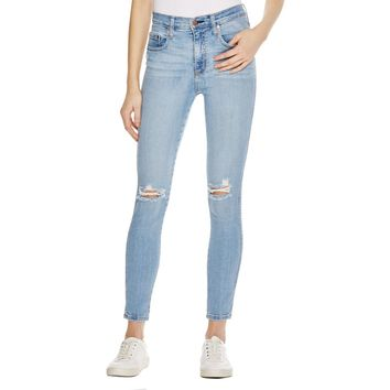 Nobody Womens Cult Destroyed Classic Rise Skinny Jeans
