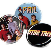 Star Trek Button Pins