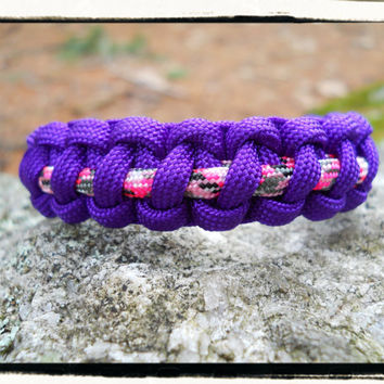 Purple Pink Survival Bracelet