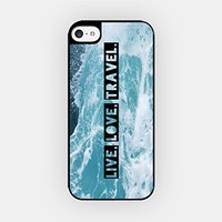 for iPhone 6/6S Plus - High Quality TPU Plastic Case - Live, Love, Travel - Motivational Quote - Wanderlust - Travel