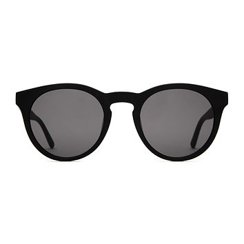 Crap Eyewear - Shake Appeal Matte Black Sunglasses / Grey Lenses