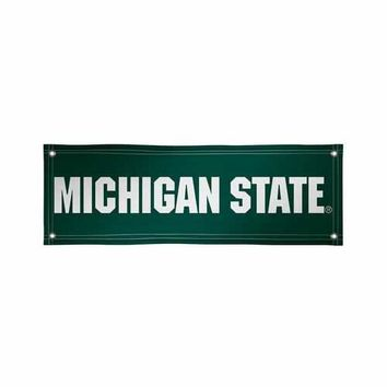 Michigan State Spartans NCAA Vinyl Banner (2ft x 6ft)