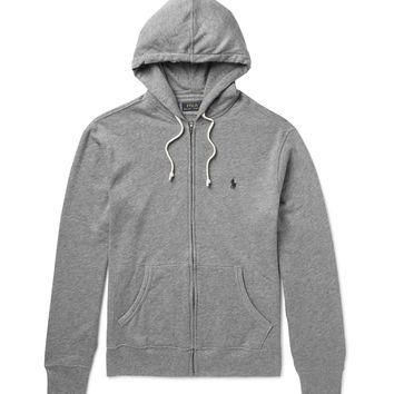 Polo Ralph Lauren - Loopback Cotton-Blend Jersey Hoodie