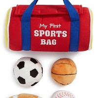 Infant Boy's Baby Gund 'My First Sports Bag' Play Set
