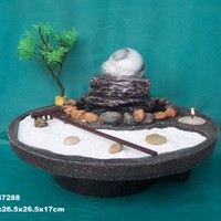 Feng Shui Tealight Pillar Tabletop Fountain