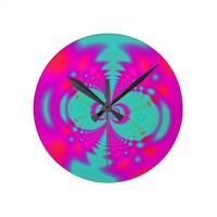 neon pink aqua psychedelic space message