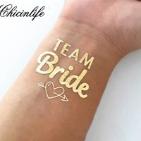 2Pcs Team Bride Temporary Tattoo For Bachelorette Party