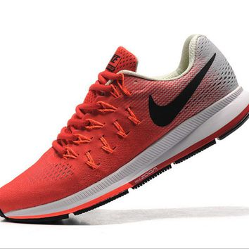 NIKE fashion casual breathable running shoes Red and white