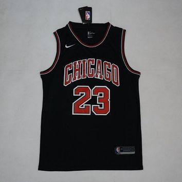 Men's Chicago Bulls #23 Michael Jordan Nike Brand Black Jerseys - Best Deal Online