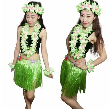 2016 Hawaii Hula sportswear will show five piece six piece suit Costume Adult hula 40CM