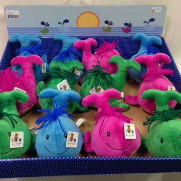 """7"""" plush wild whales rattle Case of 60"""