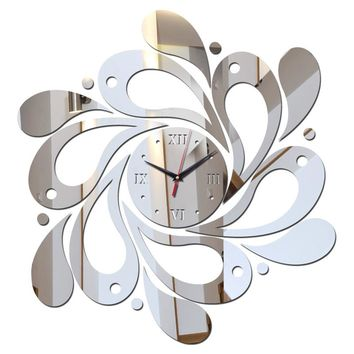 Special Offer 2017 sale of the mirror wall art acrylic watch children watch new modern home decor diy clock free shipping
