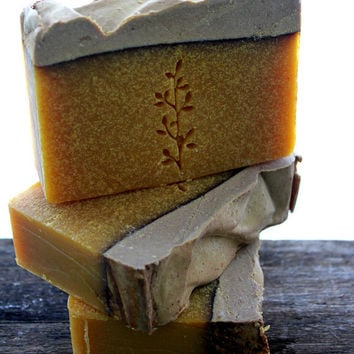Whipped Pumpkin - Olive Oil Cold Process Soap- made with fresh pureed pumpkin