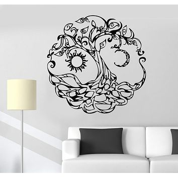 Vinyl Wall Decal Tree of Life Celtic Symbol Moon Sun Day Night Stickers Unique Gift (722ig)