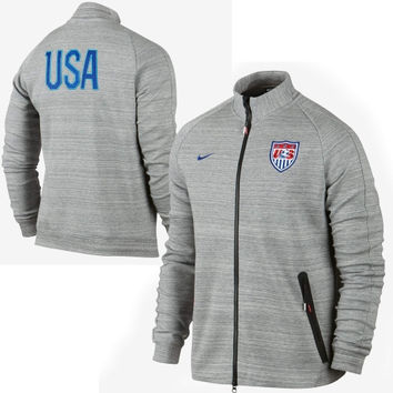 USA Nike N98 Tech Full Zip Track Jacket – Dark Gray - http://www.shareasale.com/m-pr.cfm?merchantID=7124&userID=1042934&productID=541925369 / US Soccer