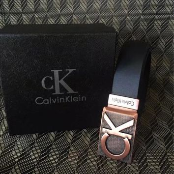 Boys & Men Calvin Klein Smooth Buckle Belt Leather Belt