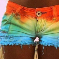 DIY: Dip Dyed Shorts