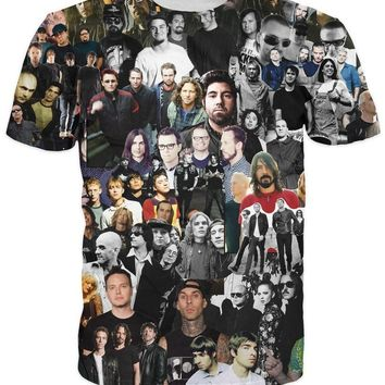 Smells Like the 90's T-Shirt Nirvana Foo Fighters Smashing Pumpkins Deftones Weezer Rock t shirt  tops For Unisex Women Men
