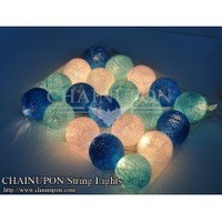 Blue Tone Cotton Balls Lights