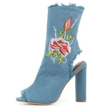 Women's Connie 53 Blue Booties