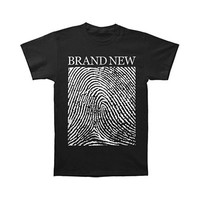 Brand New Men's  Fingerprint T-shirt Black