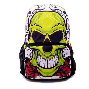 Women World Of Warcraft Backpack Canvas Skull  Backpacks Hip Hop Style Cartoon School Bag Travel Backpacks Mochilas Sac A Dos
