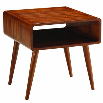 Boraam 33511 Zebra Series Alborg End Table, Rich Walnut