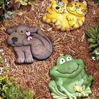 Animal Garden Stepping Stone Pathway Flowerbed Yard Art Walkway Choose Animal