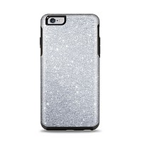 The Silver Sparkly Glitter Ultra Metallic Apple iPhone 6 Plus Otterbox Symmetry Case Skin Set