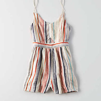 AEO Keyhole Front Romper , Multi