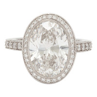 Tiffany & Co. 4.78 Carat Custom Oval Diamond Ring