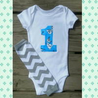 Olaf First Birthday Outfit - Frozen - Olaf Cake Smash Outfit - Snowflake - Second Birthday - Photo Prop - Leg Warmers - Baby