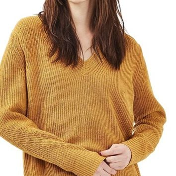Topshop Ribbed V-Neck Sweater | Nordstrom