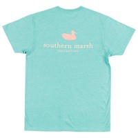 Authentic Tee in Washed Kelly by Southern Marsh