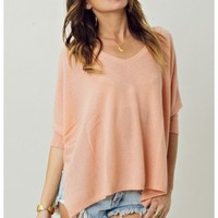 Minnie Rose Cashmere Pow Wow V Neck