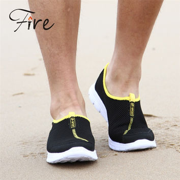 Free Shipping new beach shoes Out Running Sports Shoes Casual Men's Sneakers Men Shoes Flat Breathable sneakers Spring/Summer