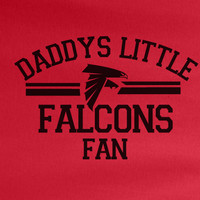 Red Custom 1 Color Daddys Little Atlanta Falcons Fan Football Tee Tshirt T-Shirt