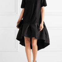 Paper London - Mani ruffled satin and wool-blend mini dress