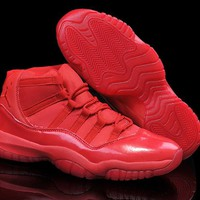 Nike Air Jordan Retro 11 Bulls red 72-10 Triple Raging Bull Basketball Shoes sneakers