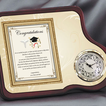 Medical School Graduation Gift Clock
