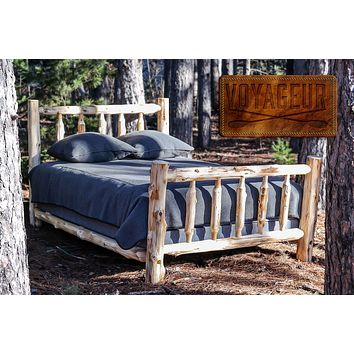 Voyageur Single Traditional Bed-Complete-UNFINISHED/UNASSEMBLED