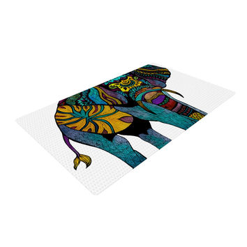 "Pom Graphic Design ""Elephant of Namibia"" Woven Area Rug"
