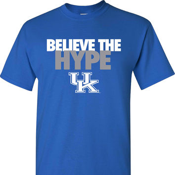 UK Believe the Hype on a Blue Short Sleeve Shirt