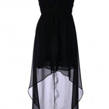 Black High Low Dress - 29 and Under