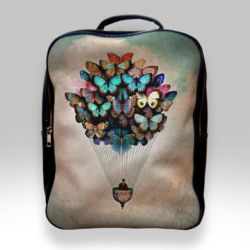 Backpack for Student - Butterfly Hot Air Balloon Bags