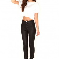 Missguided - Eugenie Shiny Disco Pants In Black